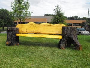 Double stump bench