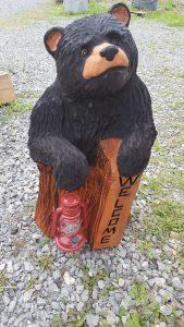 Cub in stump