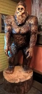 Sasquatch - currently resides at Wood's Pub & Grill in Shanesville, PA.