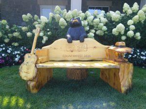 2015 WGNA Countryfest Bench
